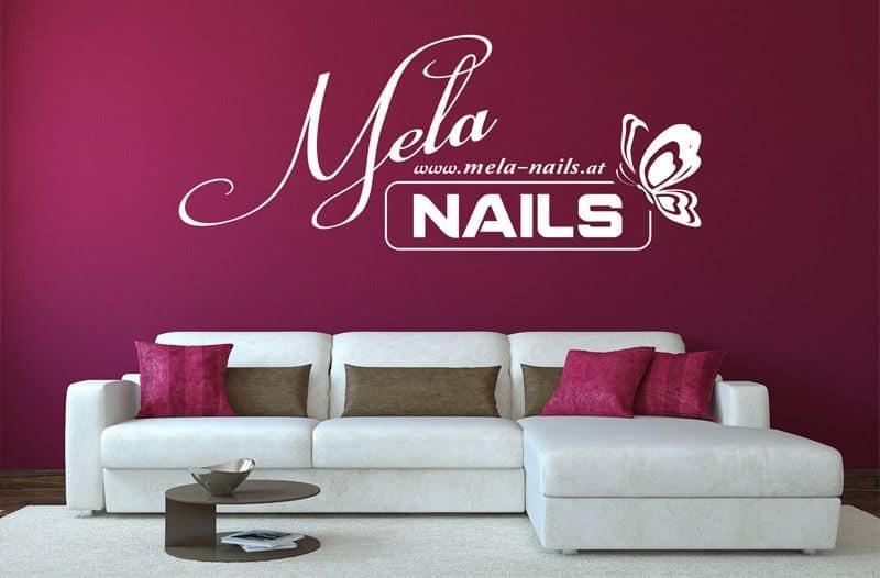 Entwurf - Logo Raumdesign für Mela-Nails Gleisdorf