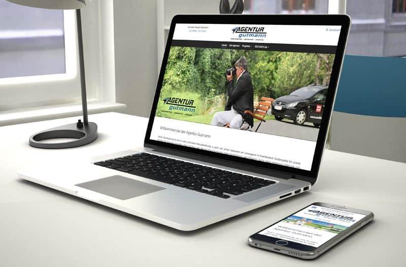 Webdesign, Webseitenerstellung für die Agentur Gutmann aus Bad Gleichenberg